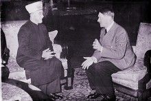 Adolf Hitler and the representative of the Palestinian Arabs, the Mufti of Jerusalem, Amin al-Husseini, December, 1941.