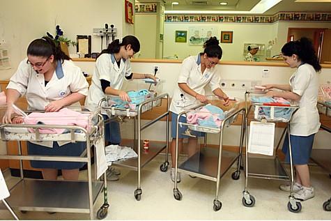 A Jerusalem (Israel) Maternity Ward.