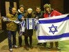Justin Hayet (second from right) at the State University of New York at Binghamton, supporting Israel against anti-Israel attacks.