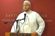 Imam Suhail Webb who boasted his Muslim community persuaded Brandeis President Fred Lawrence to withdraw an invitation to Ayaan Hirsi Ali.