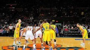 NY Knicks and Macabbi Tel Aviv in exhibition game at Madison Square Garden