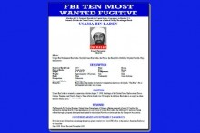 FBI Wanted poster for Osama bin Laden