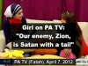 PA television's teaches the younger generation that Israel is Satan.