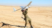 IDF soldier launches Skylark drone
