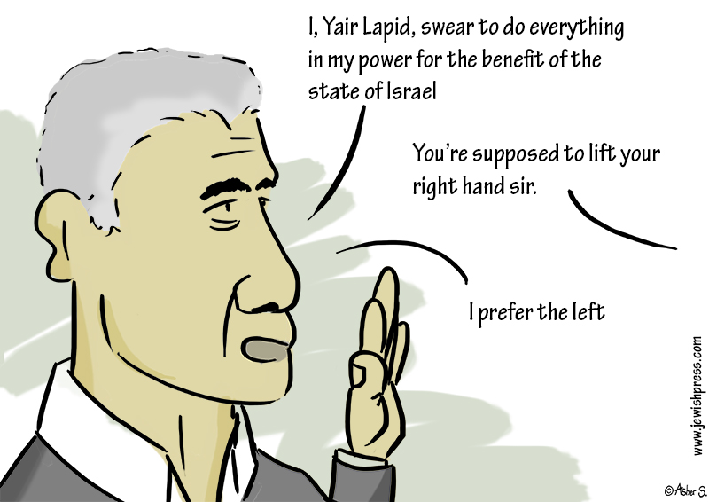 yair lapid swears
