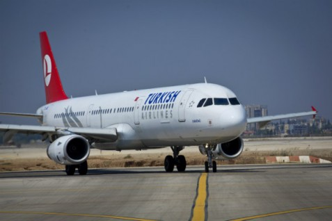A Turkish airplane in Israel.