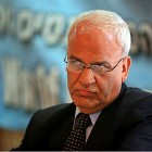 PLO executive committee member Saeb Erekat.