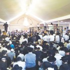 Calmer Times. Breslov chassidim on erev Rosh Hashanah in 2012 at the grave of Rav Nachman in Uman.