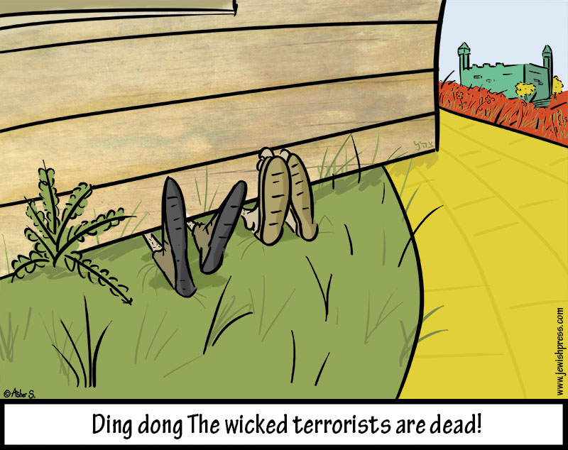 ding dong the wicked west bank terrorists are dead