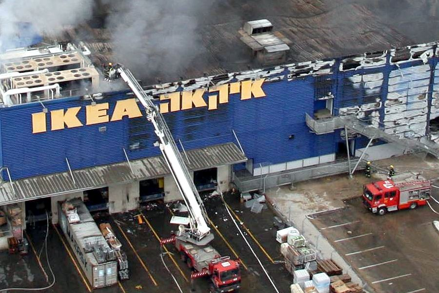 A Massive Fire Raged Early This Morning At The First Ikea Swedish Furniture  Store In Israel, ...