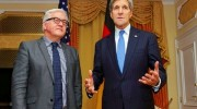 US Secretary of State John Kerry with German Foreign Minister Frank-Walter Steinmeier before P5+1 talks (Nov. 22, 2014)