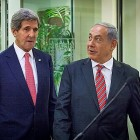 US Secy of State John Kerry and Prime Minister Netanyahu.