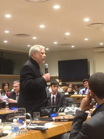 The Author addressing UN group