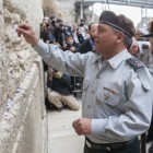 IDF Chief of Staff Gadi Eizenkot prays at the Kotel.
