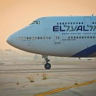 El Al plane touches down at Ben Gurion Airport runway.