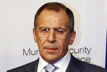 Russian Foreign Minister Sergei Lavrov.