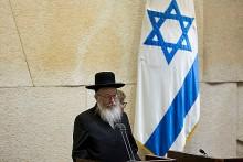 New Hareidi Cabinet Minister Yaakov Litzman.