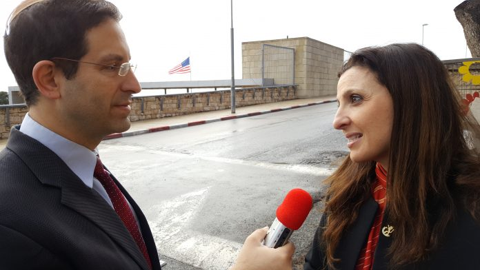 Inside Israel Today: Live from Jerusalem. It's the US Embassy.