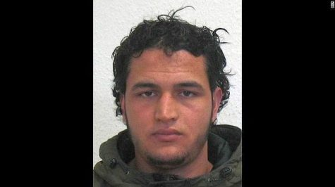 WANTED photo of Anis Amri, suspect in Berlin Christmas market attack in Dec. 2016.