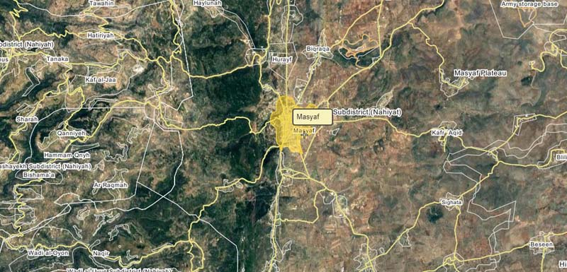 The area under attack according to reports