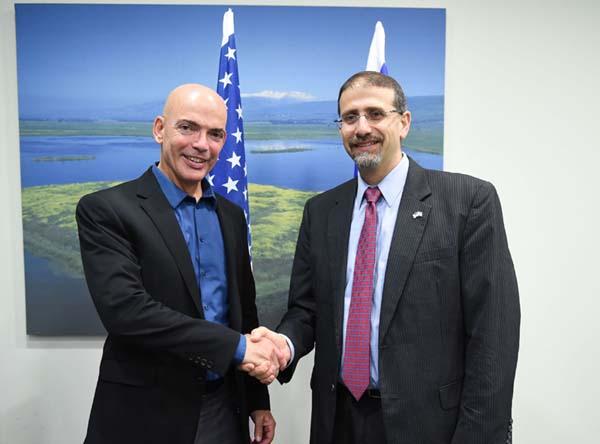 Ambassador Shapiro (R) and Dr. Danny Gold