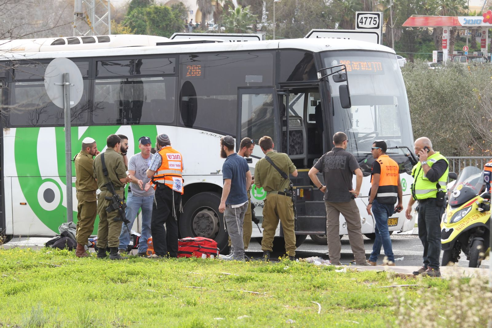 TPSScene of the terror attack near Ariel. Feb 5. 2018