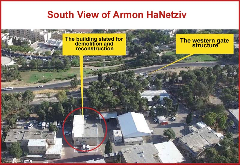 The Armon HaNetziv compound's illegal construction plan / Photo credit: Regavim