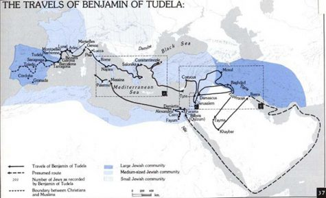 Astaire 022417 Benjamin of Tudela route