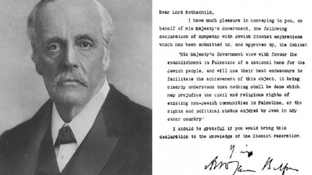 Palestinians say Britain refuses request for apology over 1917 Balfour promise