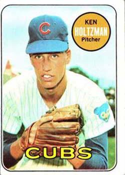 In 1966, Ken Holtzman, pictured on his 1969 Topps baseball card, beat Sandy Koufax in the final regular-season start of Koufax's legendary career.