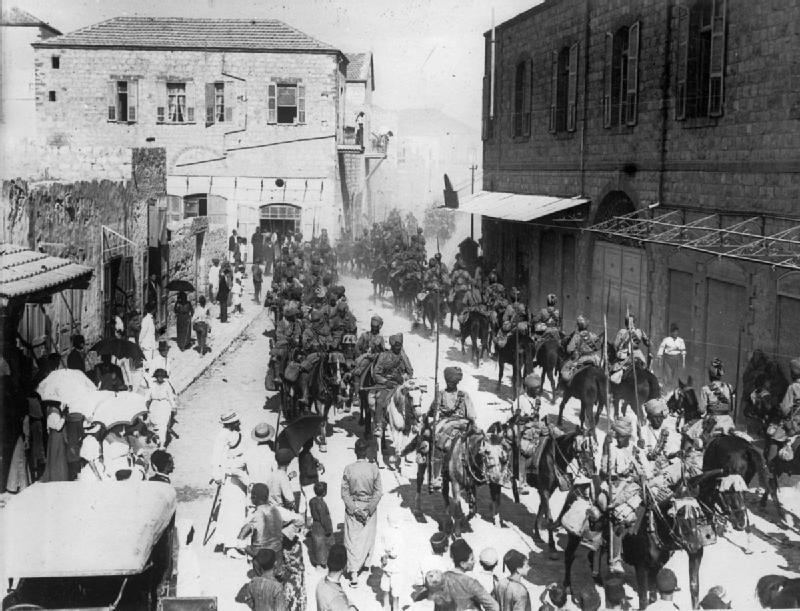 Indian lancers in Haifa 1918