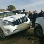 Bedouin terrorist's Toyota jeep at the scene of the crime