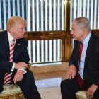 Benjamin Netanyahu and Donald Trump meet in New York, Sept. 25, 2016.