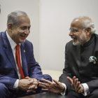 Israeli Prime Minister Benjamin Netanyahu meets with  Indian Prime Minister Narendra Modi