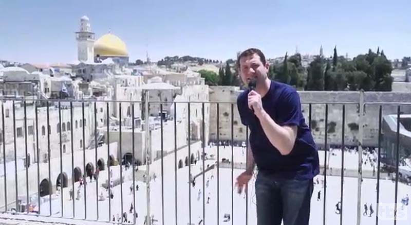 Billy Eichner in a 2012 report at the Kottel for 'Conan.' / Screenshot