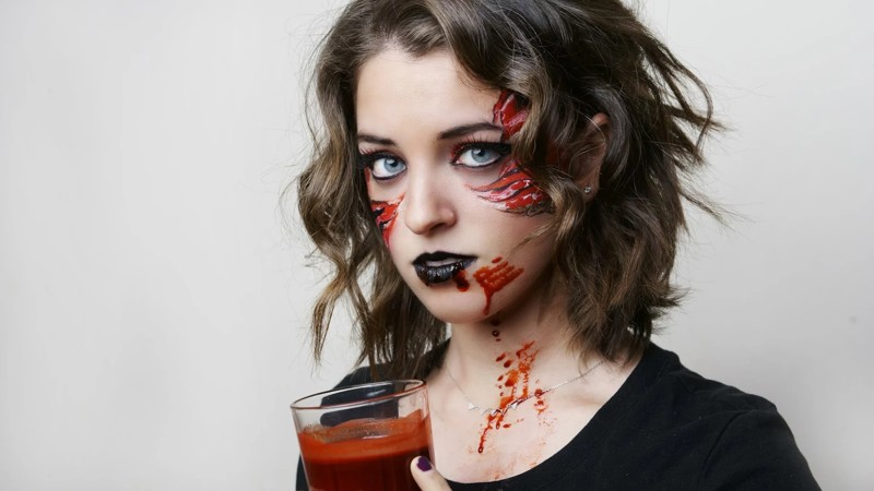 1) Blood - The 10 Plagues in Face Art