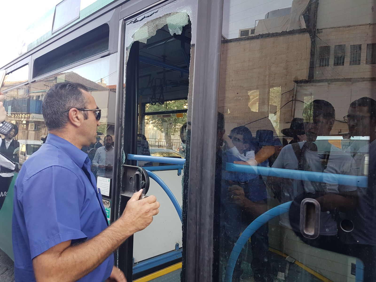 Bus Attacked by Protesters 2
