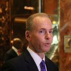Boeing CEO Dennis Muilenburg at Trump Tower in NYC