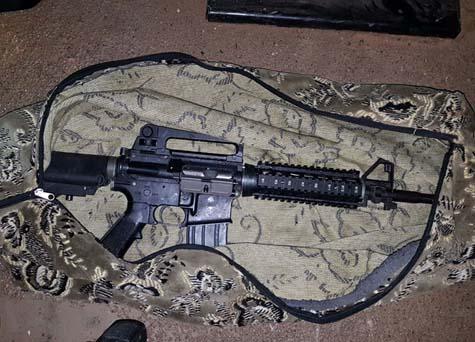 Captured M-16 rifle