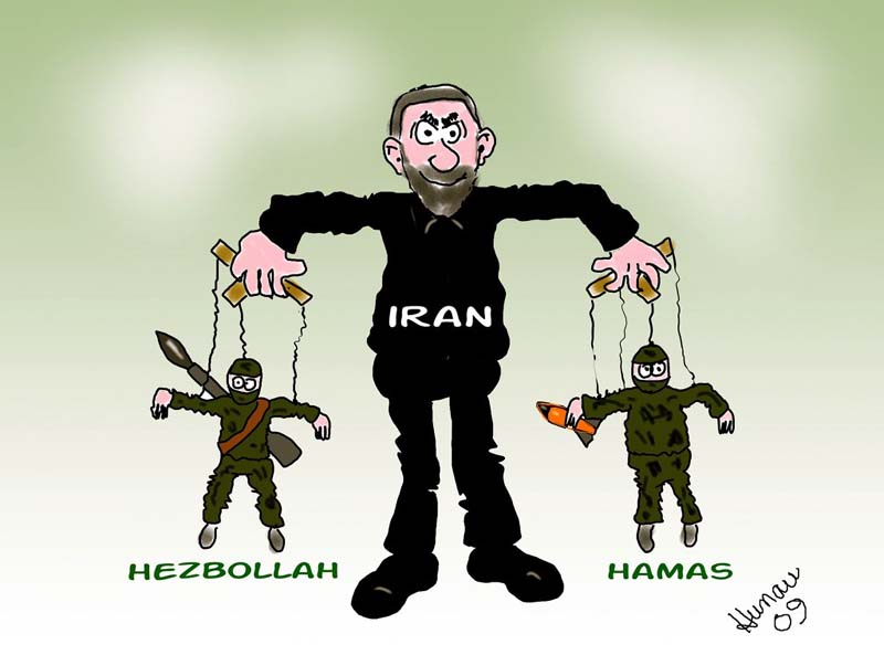 Risultati immagini per iran hamas hezbollah cartoon