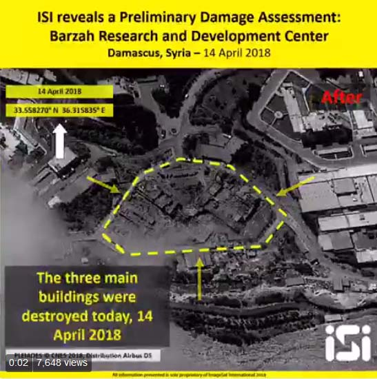 Syria attack: Shock images show Assad chemical weapons facilities BLOWN TO BITS