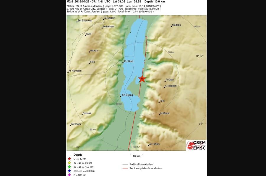 Series of Small Earthquakes Shake Dead Sea Region | The Jewish Press on