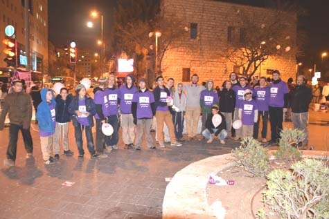 Derech Chaim activists in Jerusalem
