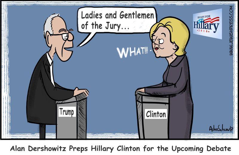 Dershowitz Preps Hilllary for Debate