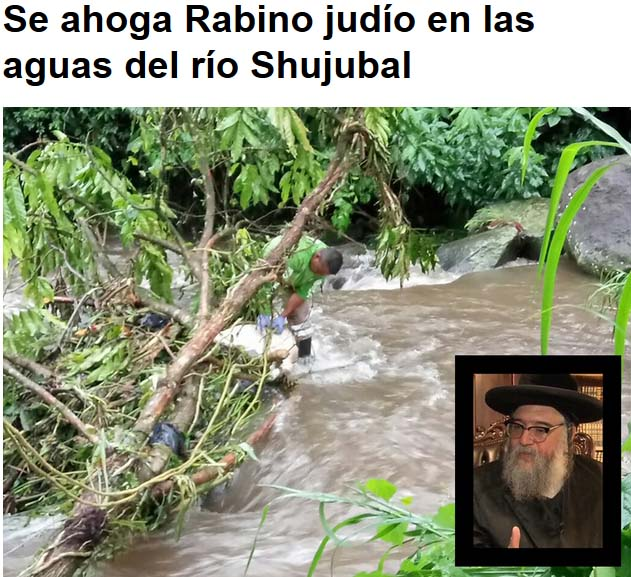Diardio de Chiapas report of Shlomo Helbrans' drowning