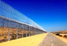 Egyptian-Israeli border fence along Sinai completed in January 2017