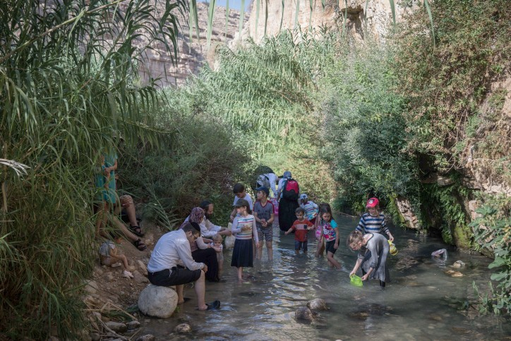 Hiking in Ein Meboa Spring