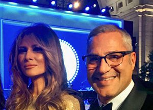 Michael Wildes with Melania Trump at the presidential inauguration.