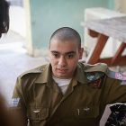 IDF Sgt Elor Azaria seen during military court proceedings in Jaffa, October 26, 2016