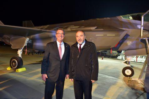 DM Liberman Secretary of Defense Ashton Carter F-35